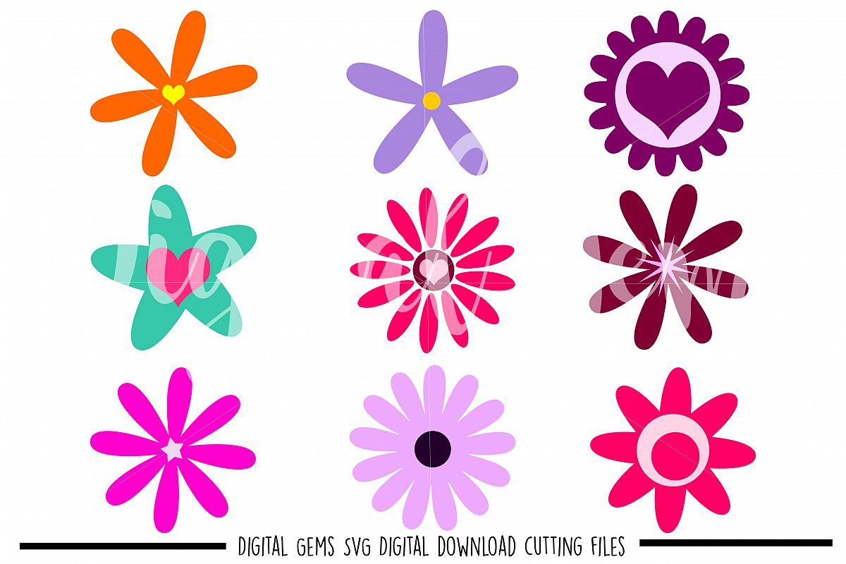 Flowers SVG / DXF / EPS / PNG files example image 1