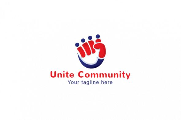 Unity Community - Collaborate Group Stock Logo Template example image 1