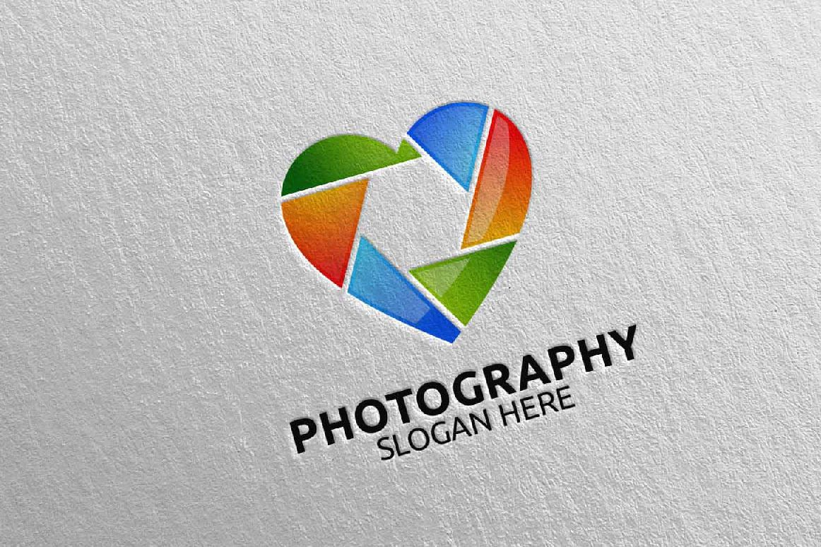 Abstract Camera Photography Logo 8 example image 1