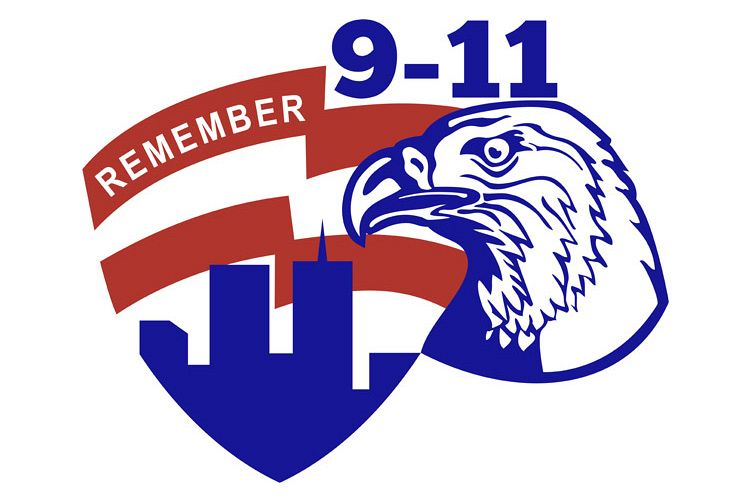 9-11 Eagle Head World Trade Center American Flag example image 1