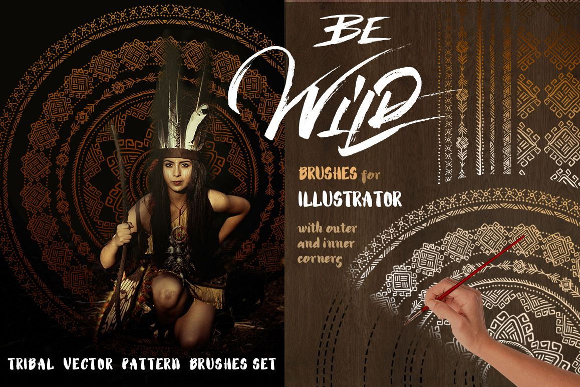 Be Wild! Brushes for Illustrator example image 1