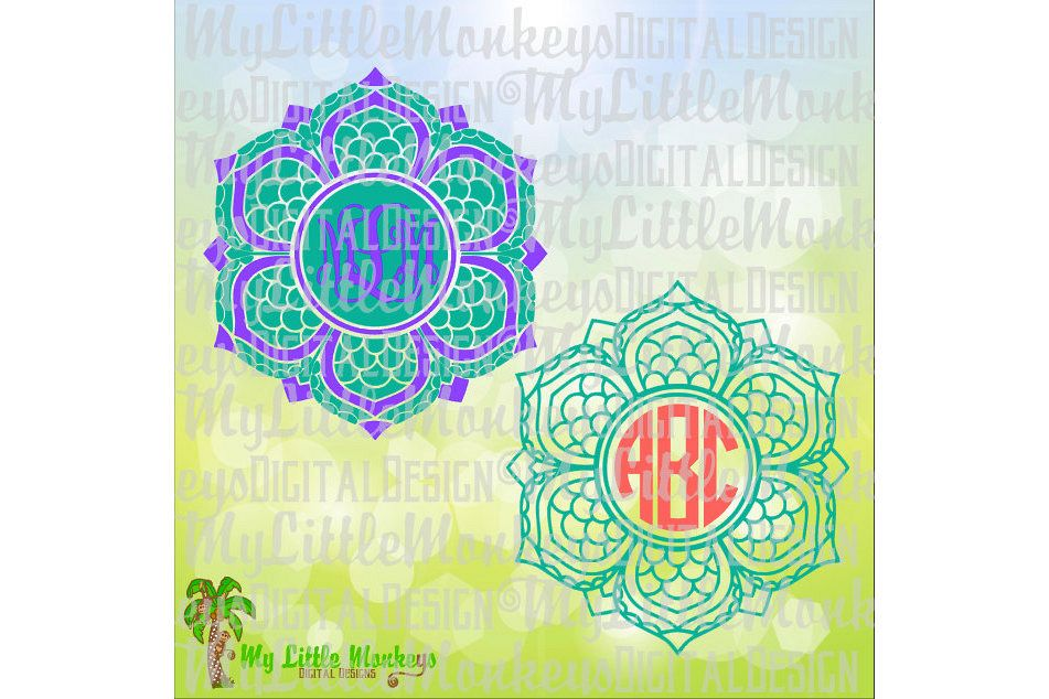Mermaid Mandala Monogram Base example image 1