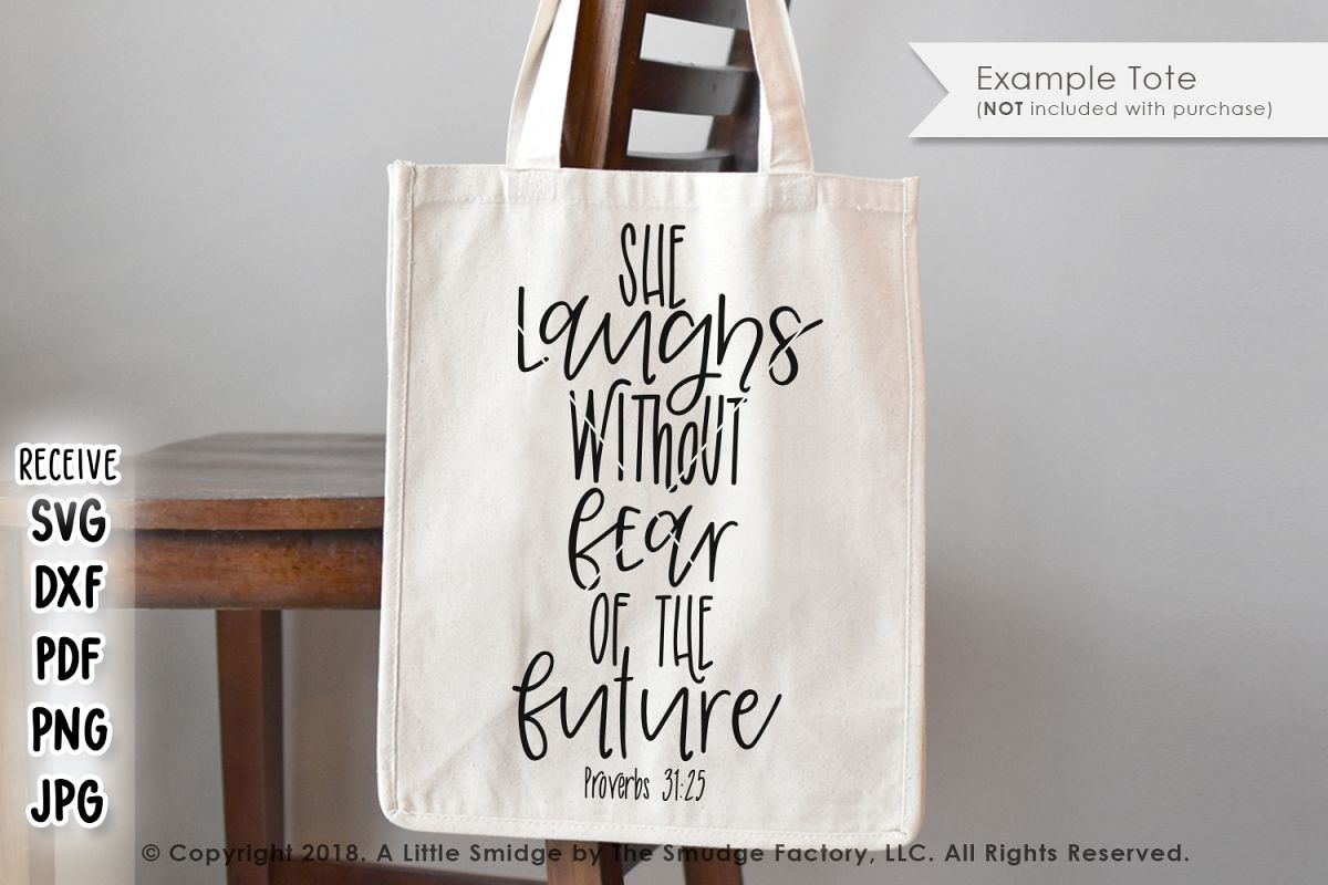 She Laughs Without Fear Of The Future SVG example image 1