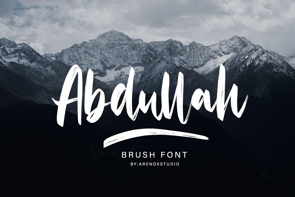 Abdullah Handbrush Typeface example image 1