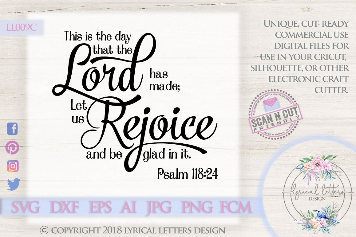 This is the Day the Lord Has Made Psalm 118 SVG DXF LL009C example image 1