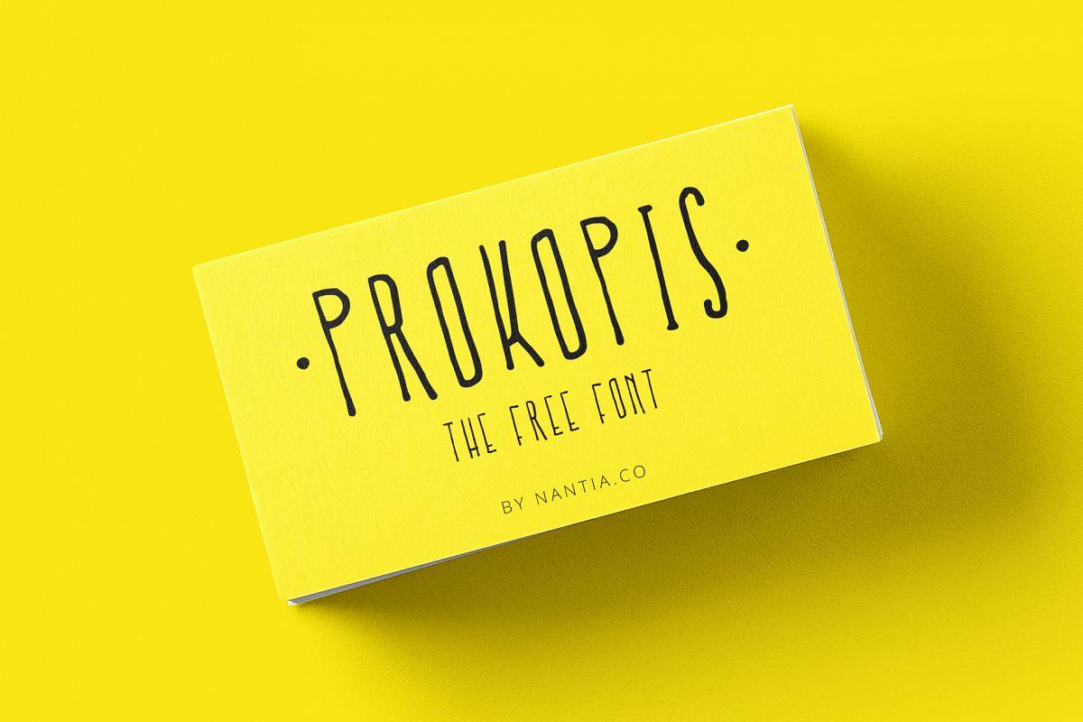 Prokopis font example image 1