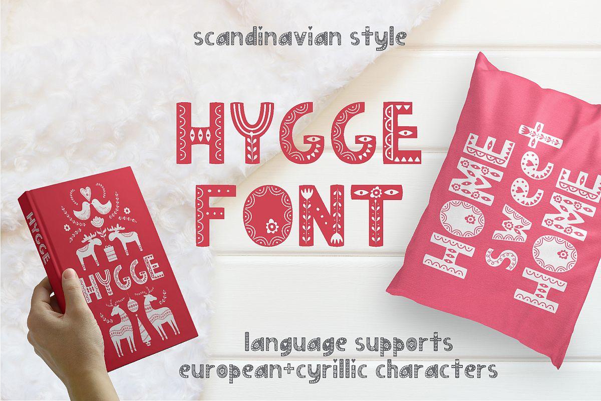 Hygge Scandinavian font example image 1