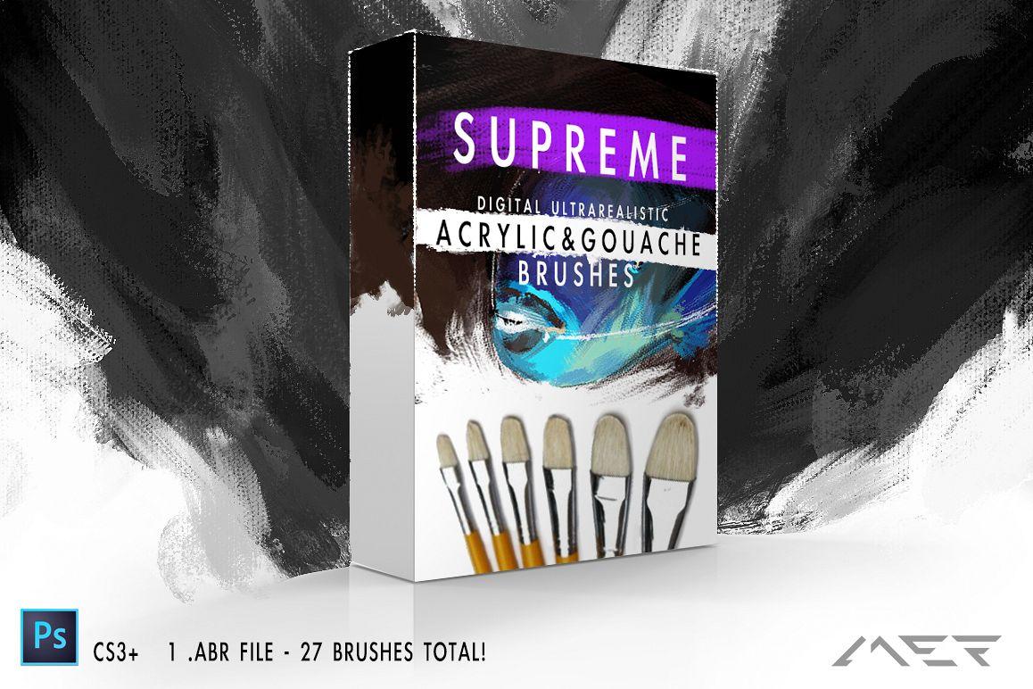 Supreme Acrylic & Gouache Brushes example image 1