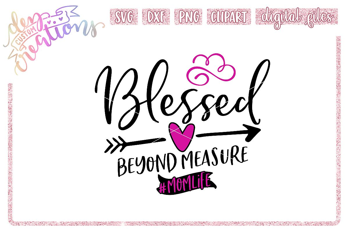 Blessed Beyond Measure - SVG DXF PNG File example image 1