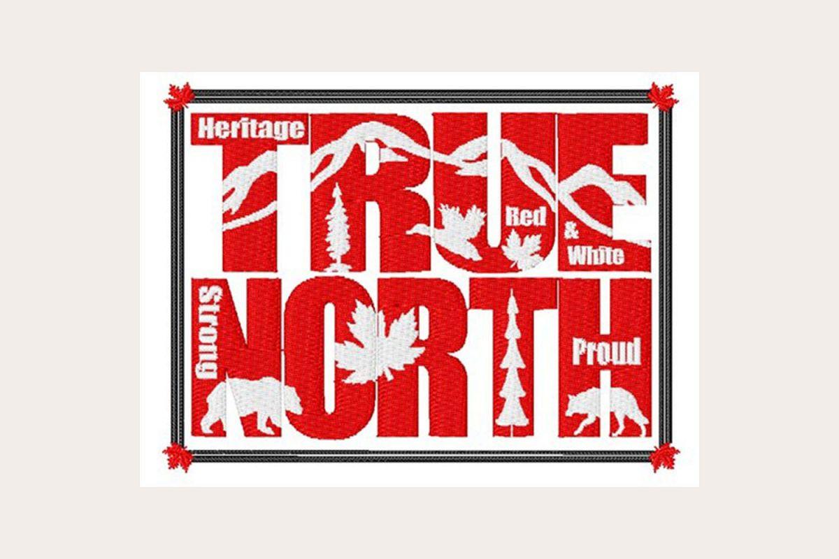 Canada True North - Machine Embroidery Design example image 1
