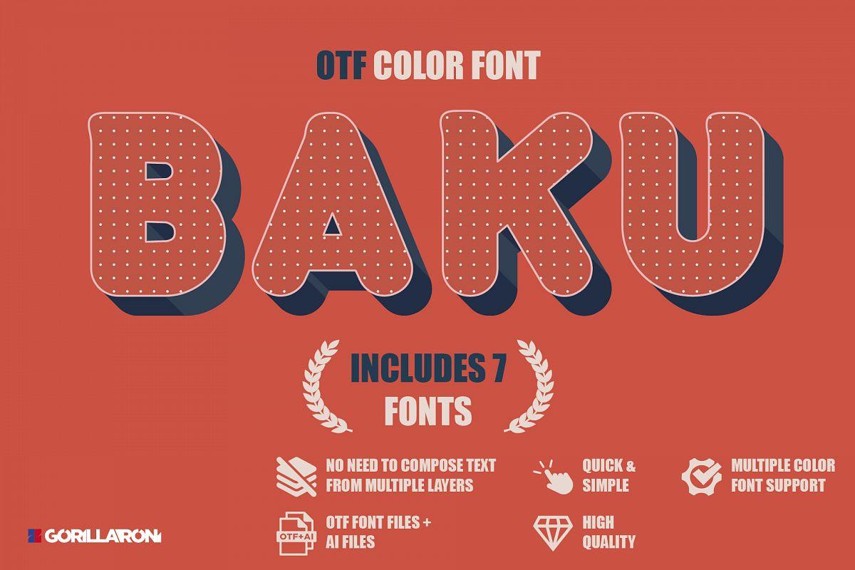 Baku - SVG color font example image 1