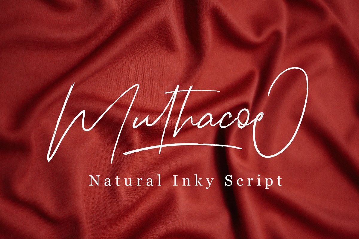 Muthacoe   Natural Inky Script example image 1