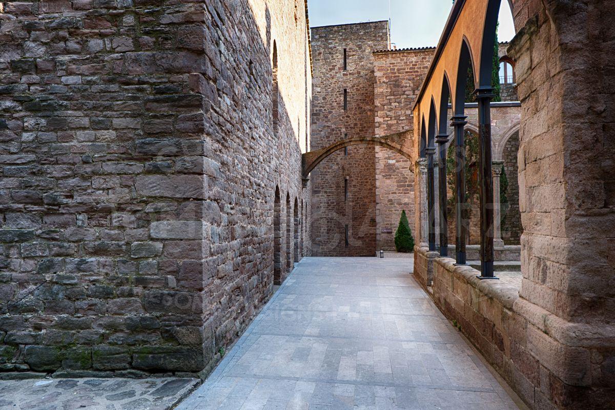 Inner Courtyard Of Cardona Castle 2- Photo example image 1