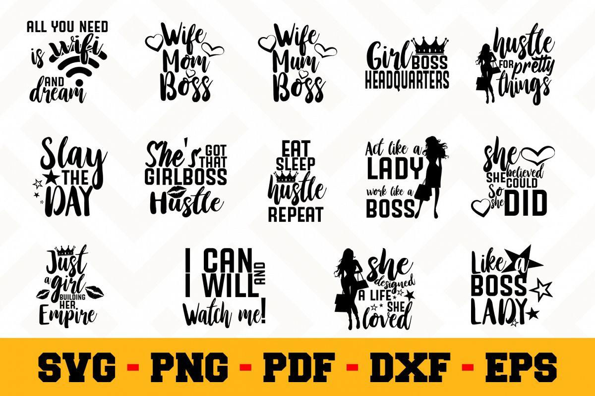 Boss Lady Bundle 14 Designs Pack Boss Lady Svg Bundle