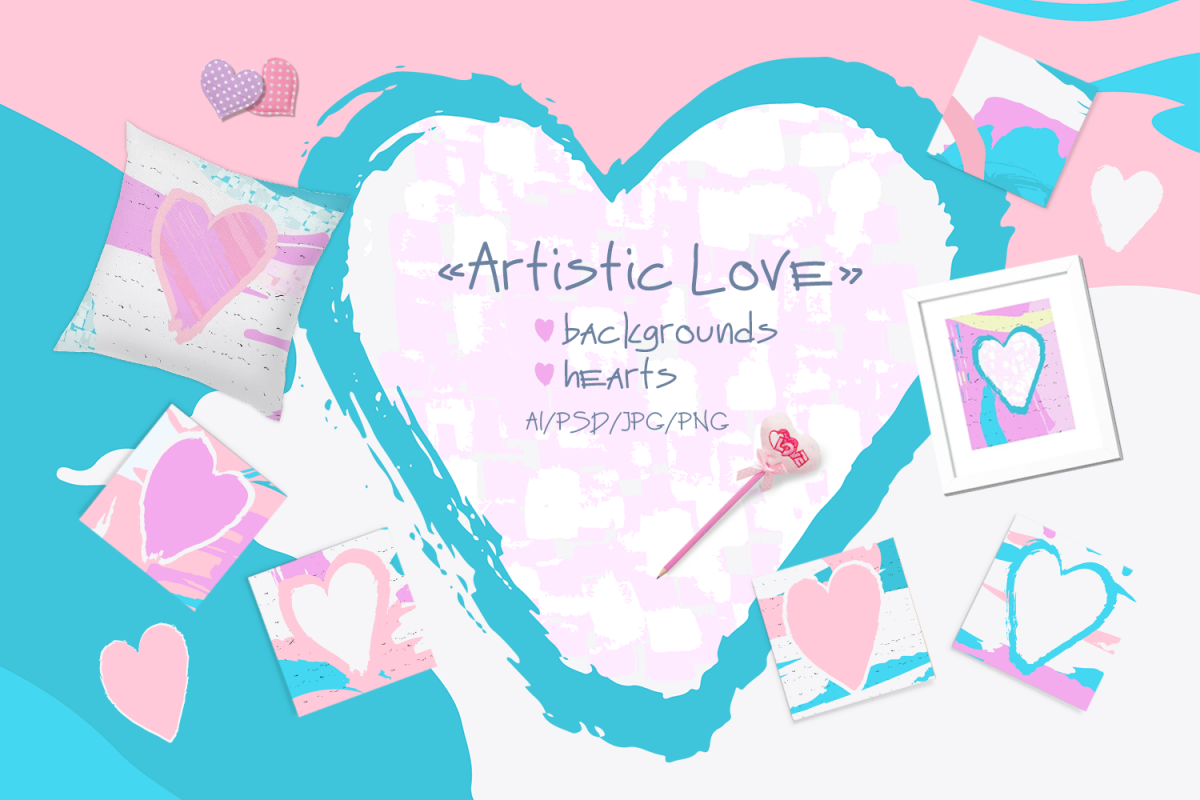 Artistic Love/Backgrounds example image 1