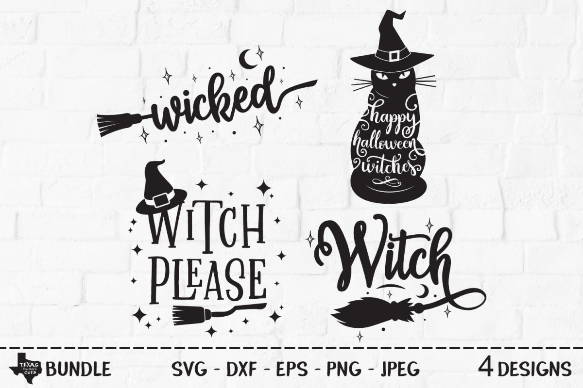 Wicked Witch Bundle Svg Cut Files Halloween Shirt Design