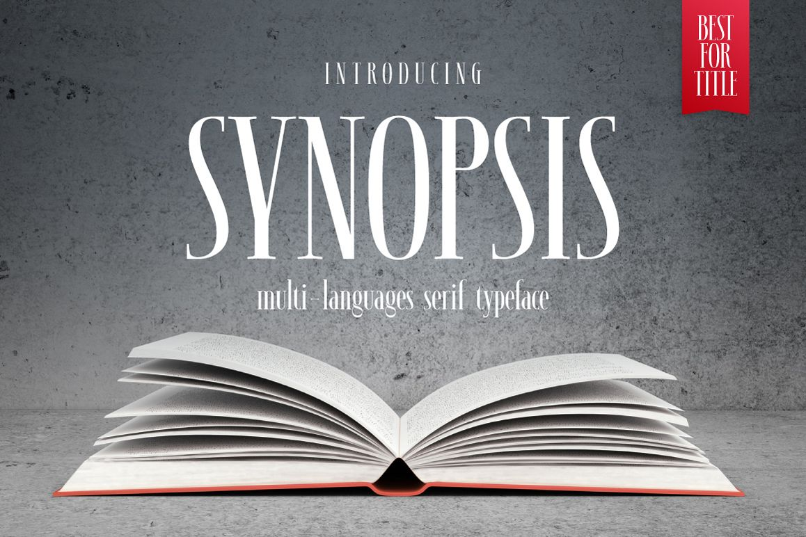 SYNOPSIS typeface example image 1
