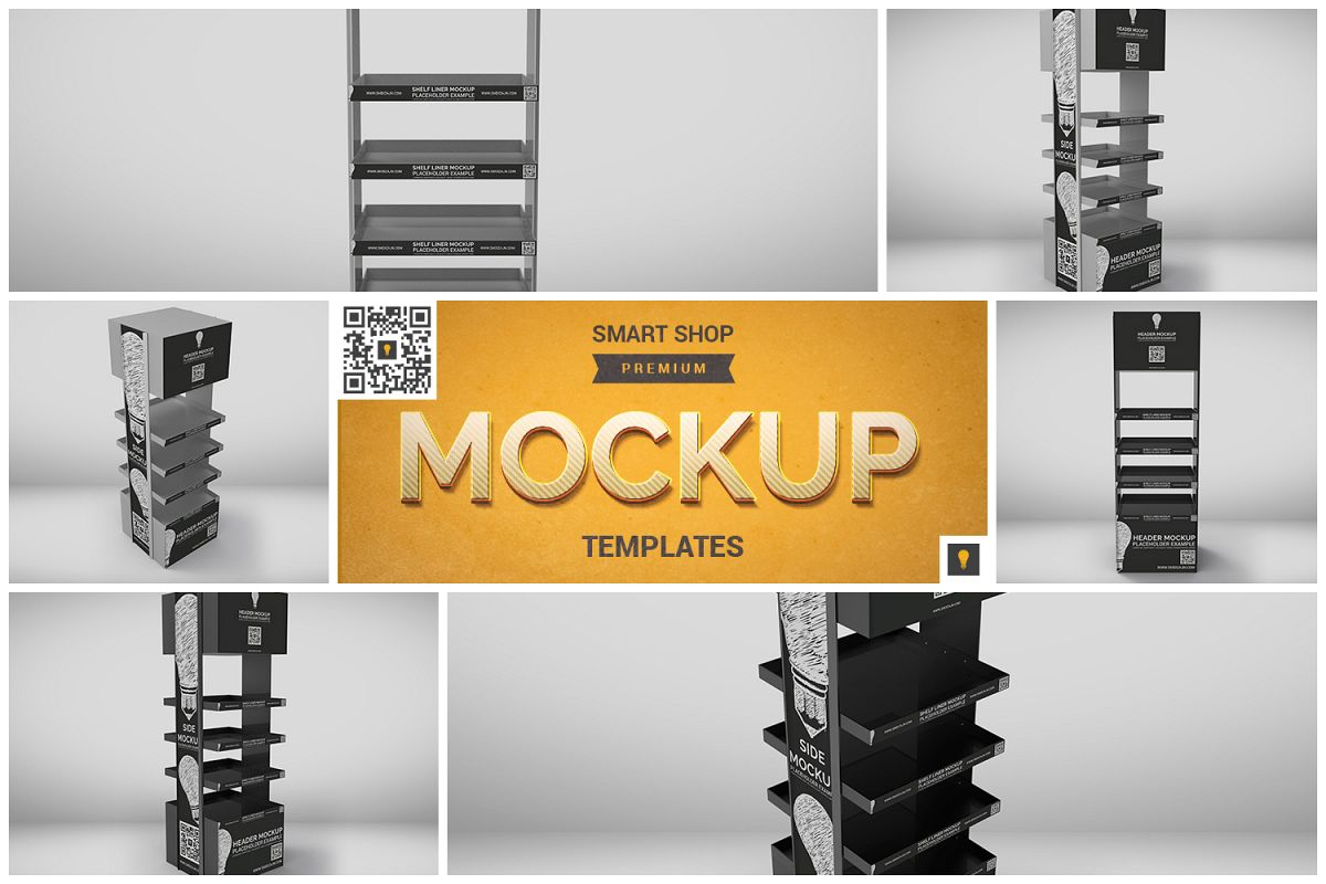 Promotional Store Shelf Stand Mockup example image 1