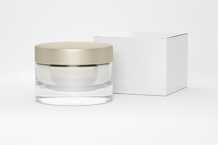 Cosmetic jar with cardboard box example image 1
