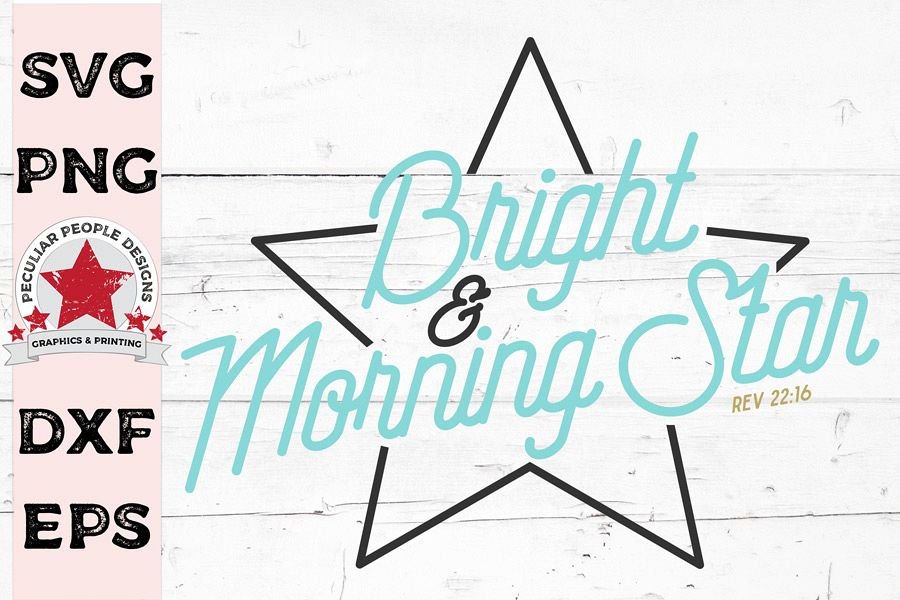 Bright & Morning Star, Name of Jesus SVG cutting file example image 1