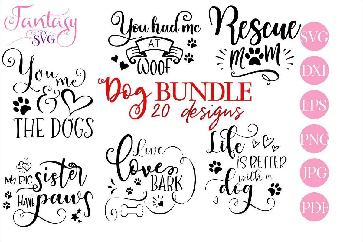 Dog BUNDLE - svg cut files example image 1