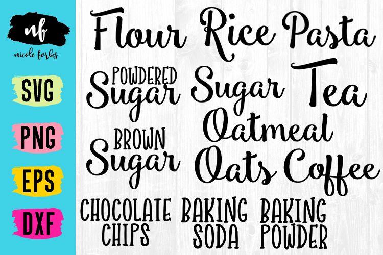 Kitchen Label SVG example image 1