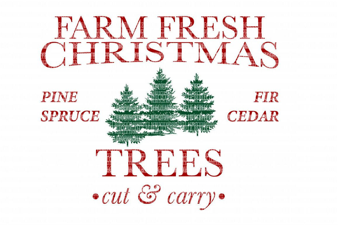 farm fresh christmas svg files cut files heat transfer vinyl scrapbooking stencil eps dxf silhouette cameo