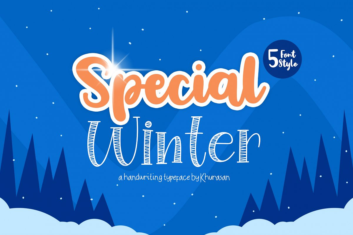 Special Winter 5 Font example image 1