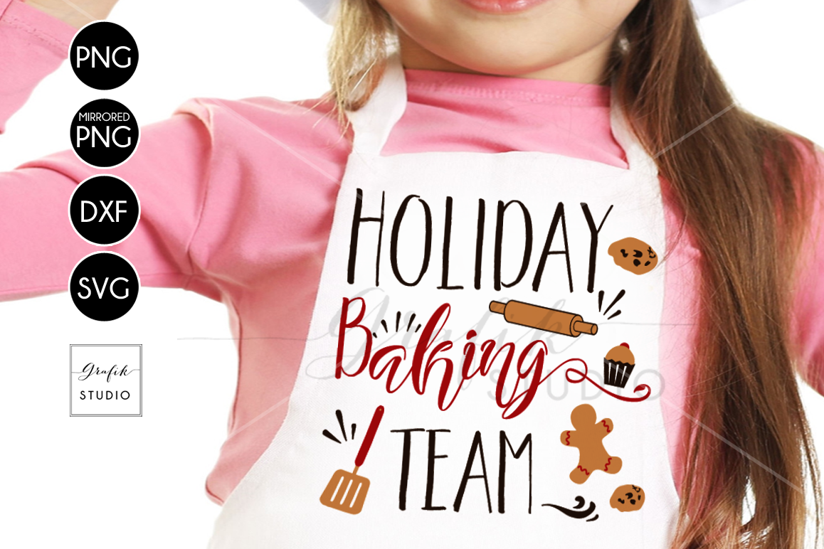 Holiday Baking Team CHRISTMAS SVG for Cricut example image 1