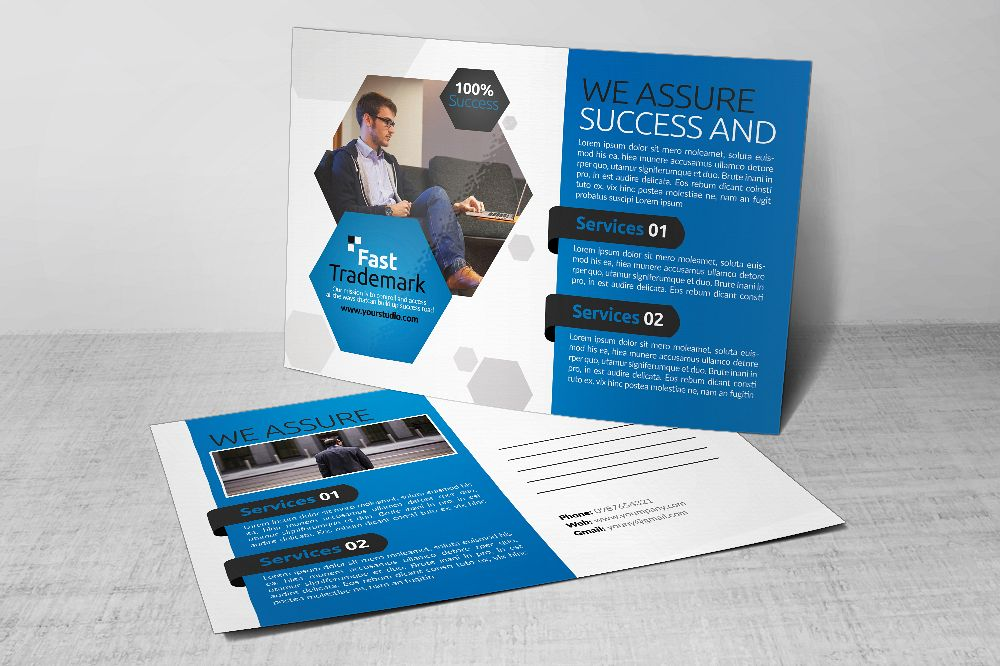 Business Postcards Psd Files example image 1