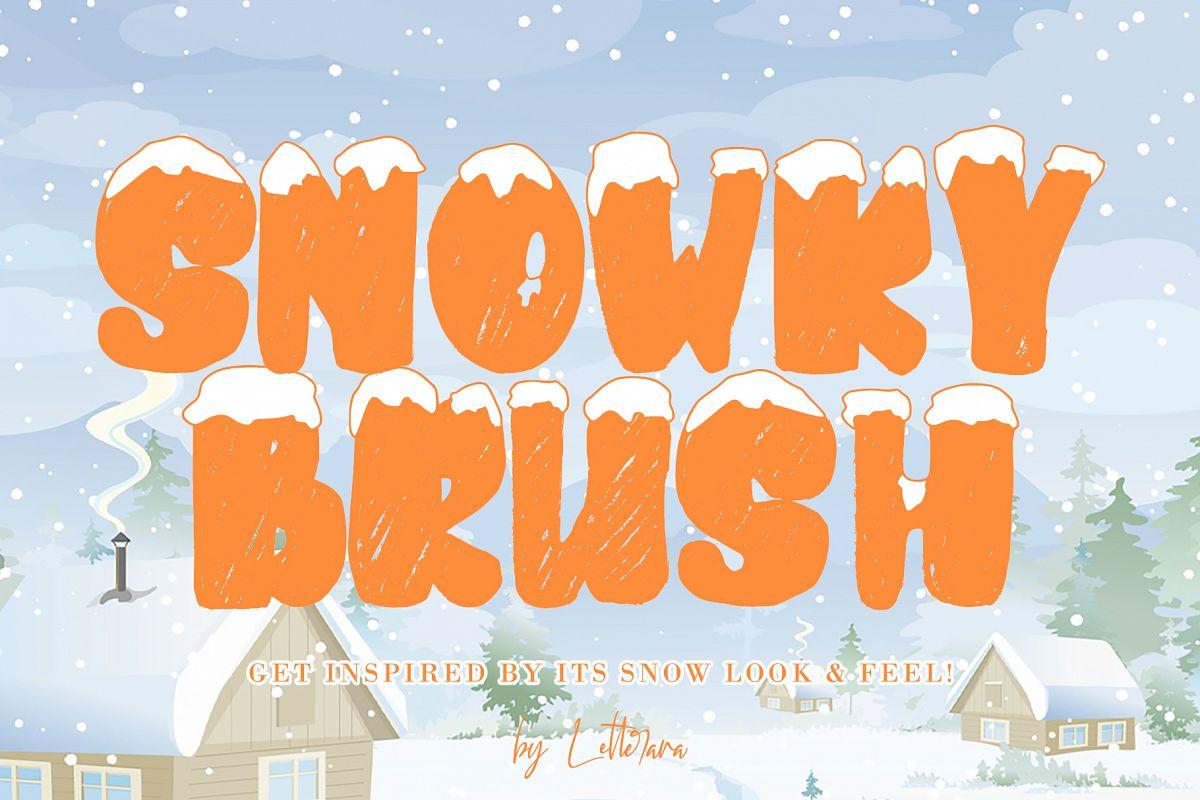 SNOWKY BRUSH example image 1