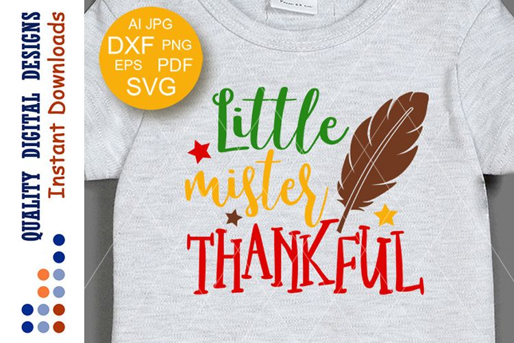 Thanksgiving decor Little mister thankful digital files example image 1