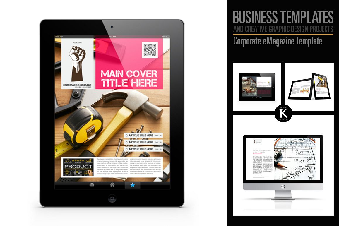 Corporate eMagazine Template example image 1