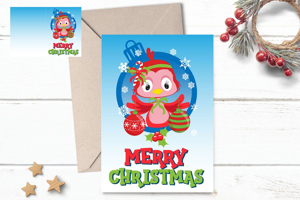 Printable Christmas Card For Kids 5x7 in - Xmas Ready Print