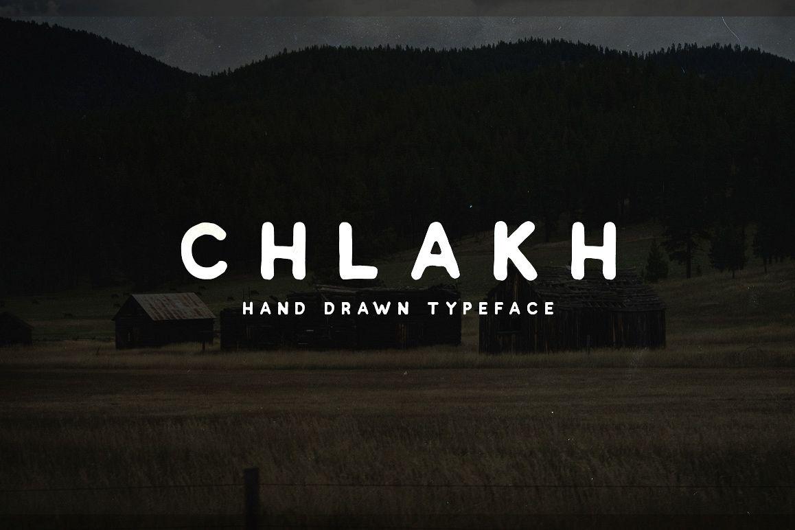 Chlakh - Hand Drawn Typeface example image 1