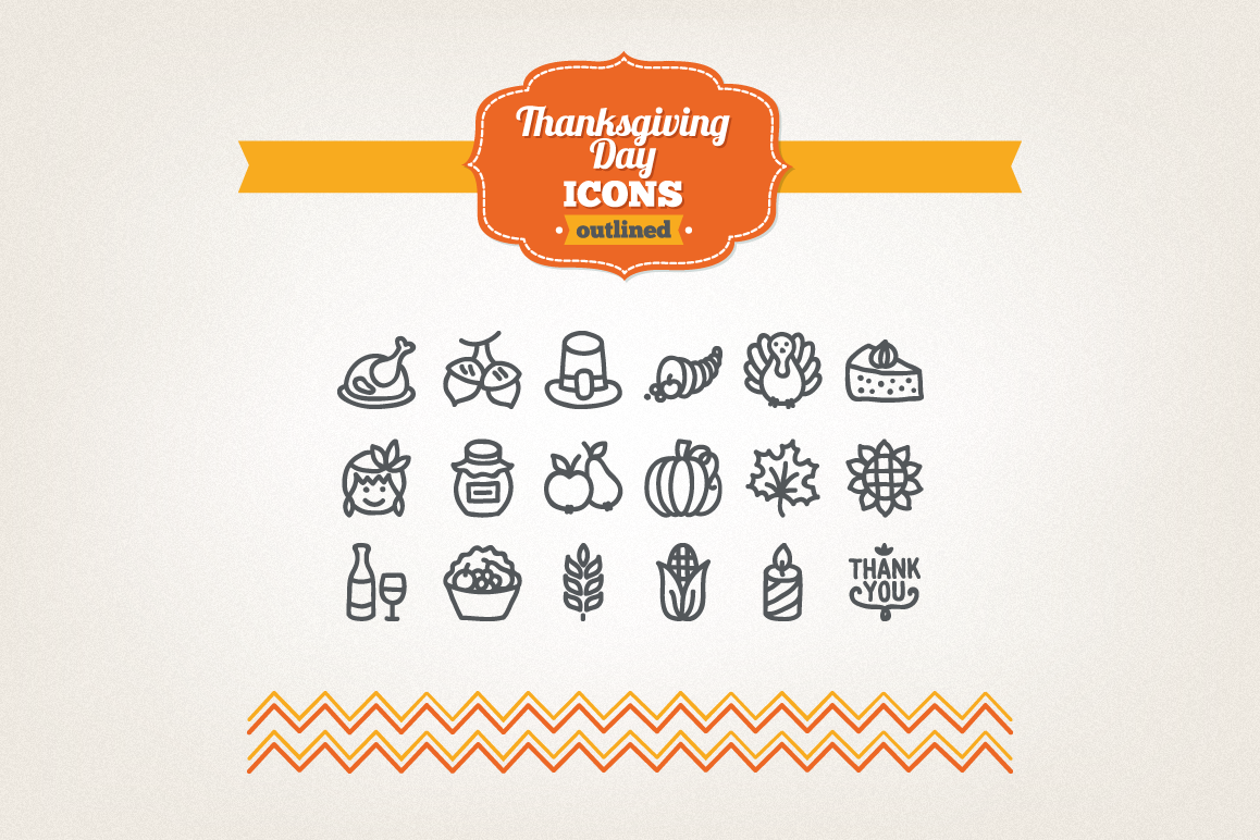 Hand Drawn Thanksgiving Day Icons example image 1