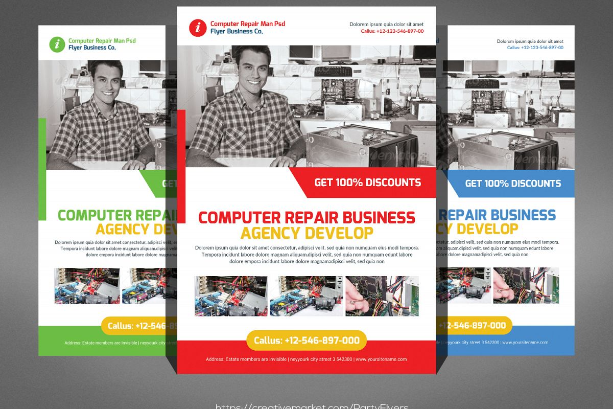 Computer Repair Flyer User Guide Manual That Easy To Read