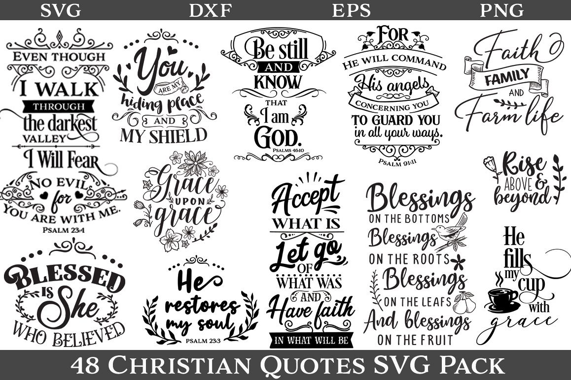 48 Christian Quotes SVG Pack - Limited Promotion example image 1