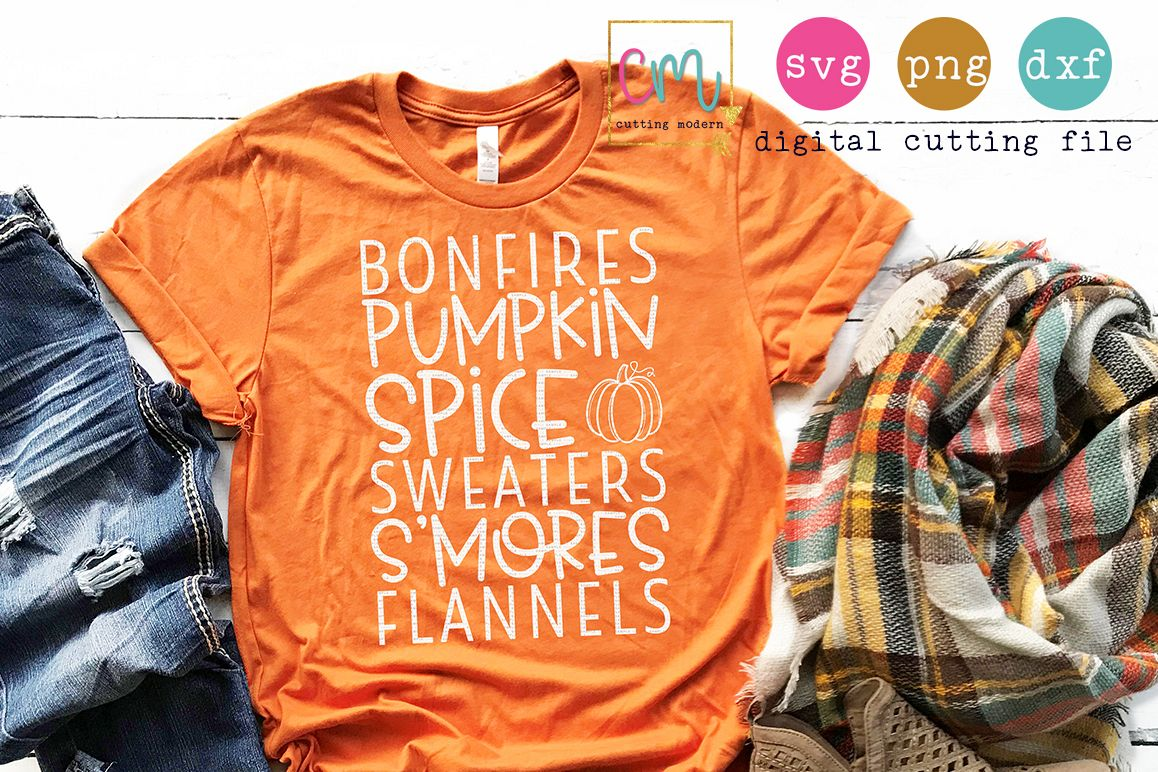 Bonfires Pumpkin Spice Sweaters S'mores Flannels  example image 1