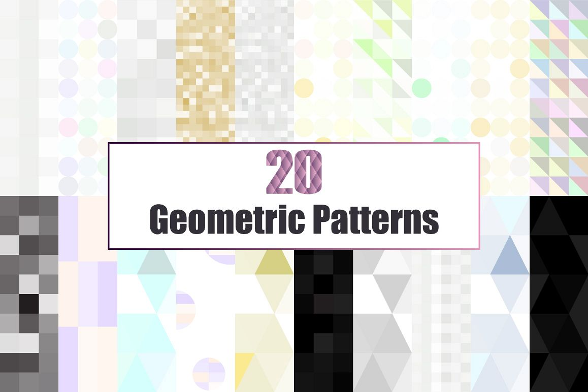 20 Glitter and Geometric patterns example image 1