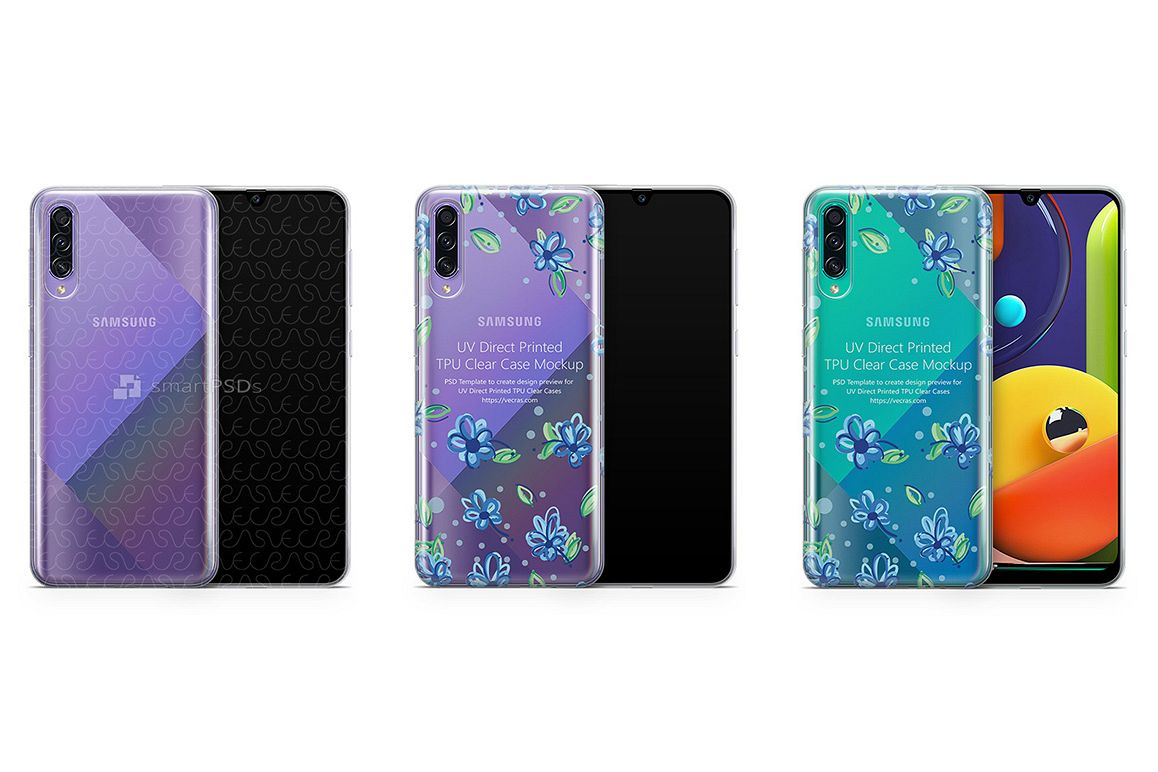 Galaxy A50s 2019 TPU Clear Case Mockup example image 1