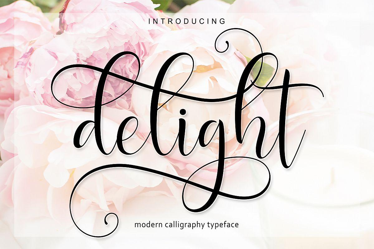 Delight Script | 4 Font example image 1
