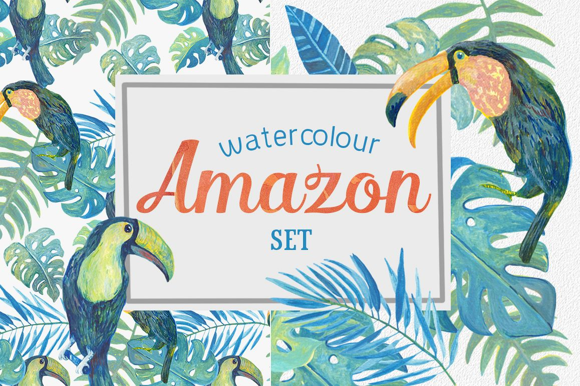 Watercolour Amazon Clipart example image 1