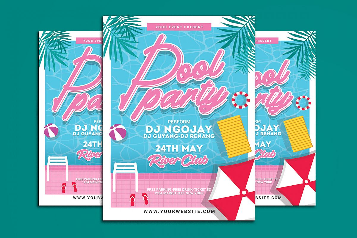 Pool Party Flyer example image 1