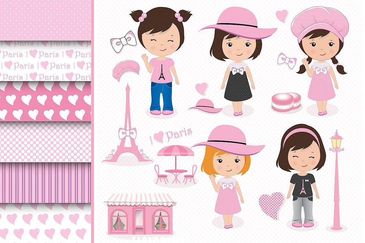 Paris clipart set, Paris graphics example image 1