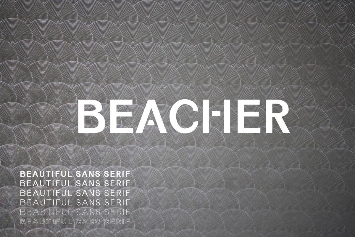 Beacher Sans Serif Typeface example image 1