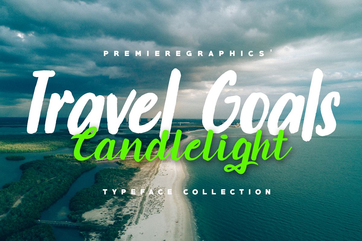 Travel Goals & Candlelight - Font Collection example image 1