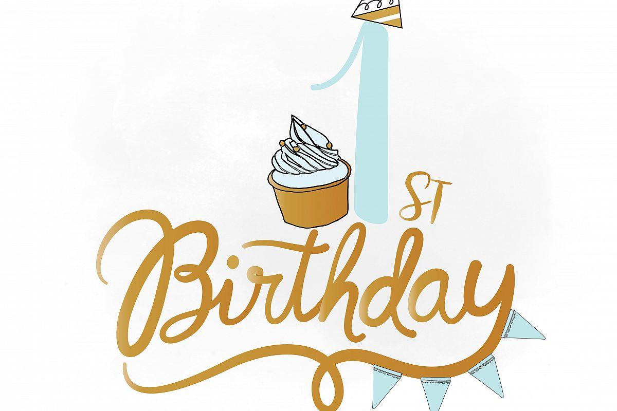 1st birthday svg clipart baby boy birt design bundles rh designbundles net 1st birthday clipart images 1st birthday clipart images