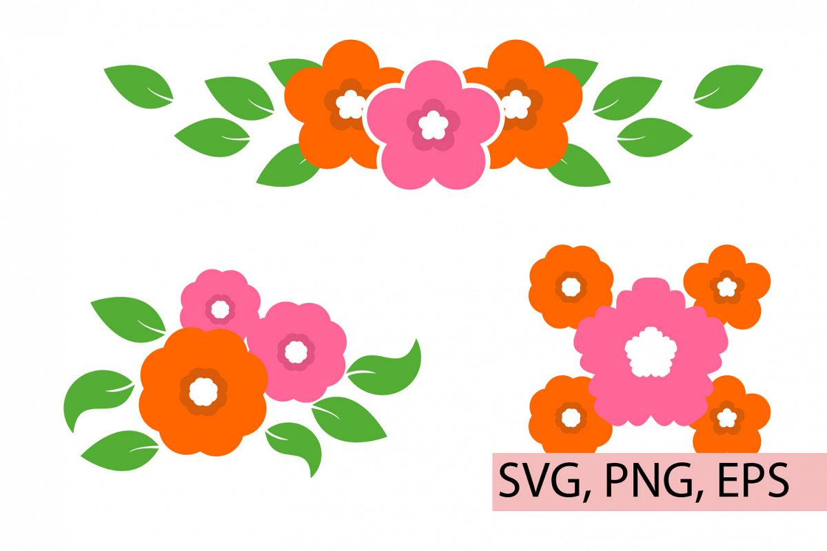 Flowers, Florals, Flowers Bouquets, Svg files example image 1