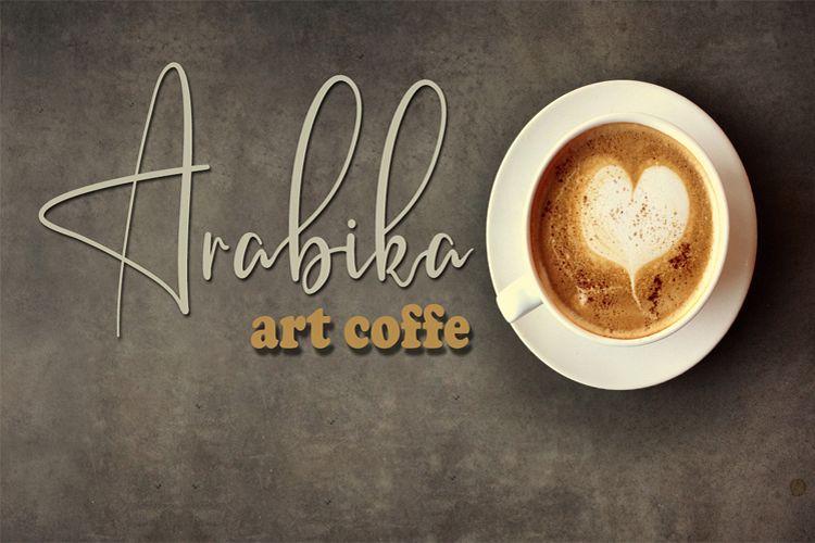 Arabika Art Coffe Signature Font example image 1